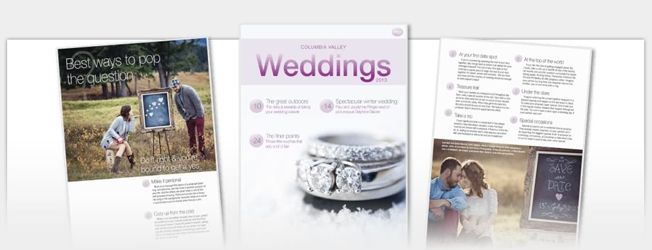 Columbia Valley Weddings Magazine - Columbia Valley Weddings Magazine 2012