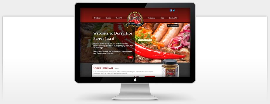Dave's Hot Pepper Jelly - eCommerce WordPress Website