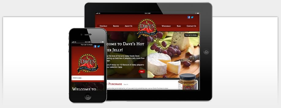 Dave's Hot Pepper Jelly is Designed for Mobile Devices