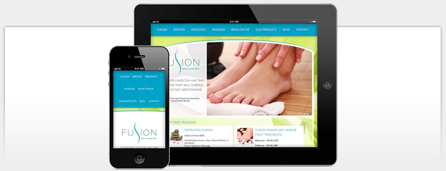 Fusion Wellness Spa is Designed for Mobile Devices
