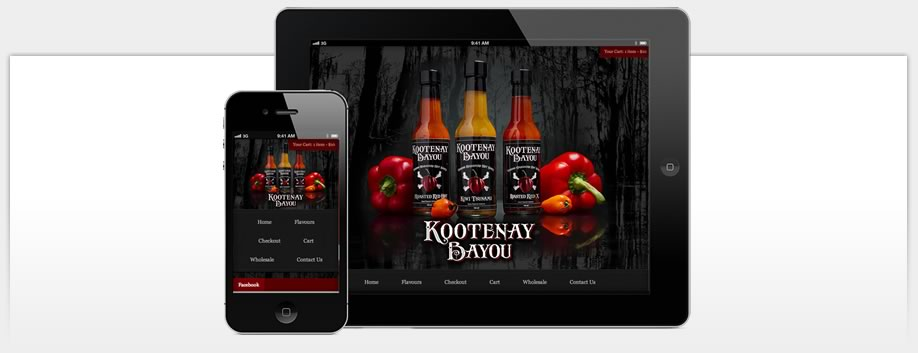 Kootenay Bayou Hot Sauce is Designed for Mobile Devices