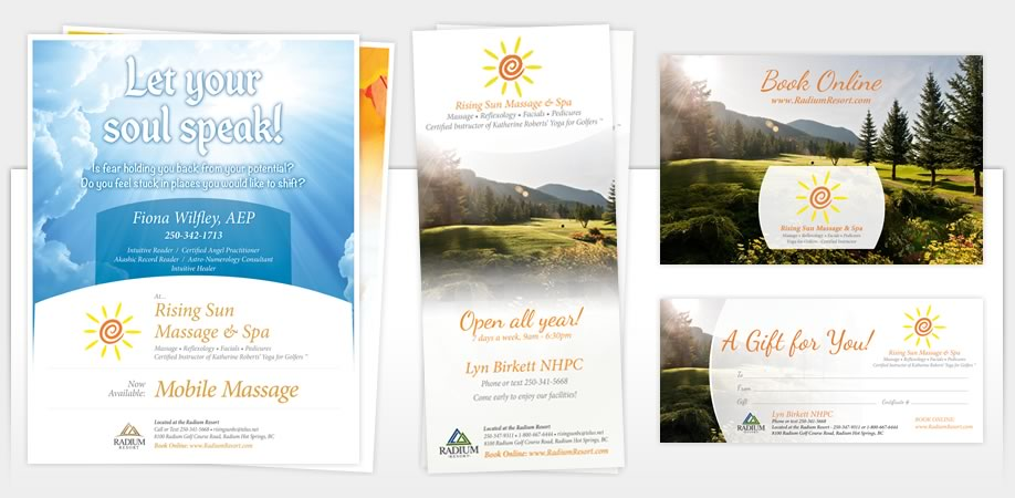 Rising Sun Massage - Marketing Materials